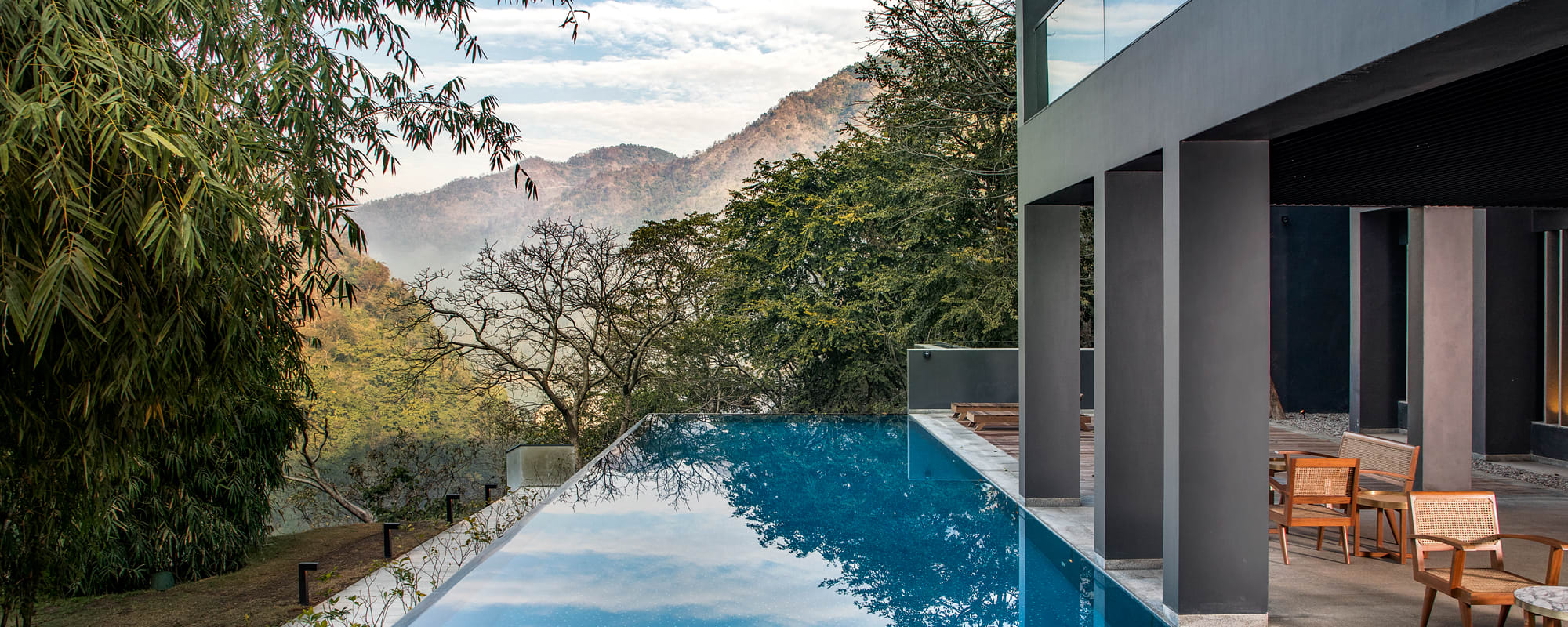 Pool, Rishikesh, Indien, Hotel, Travel, Reise
