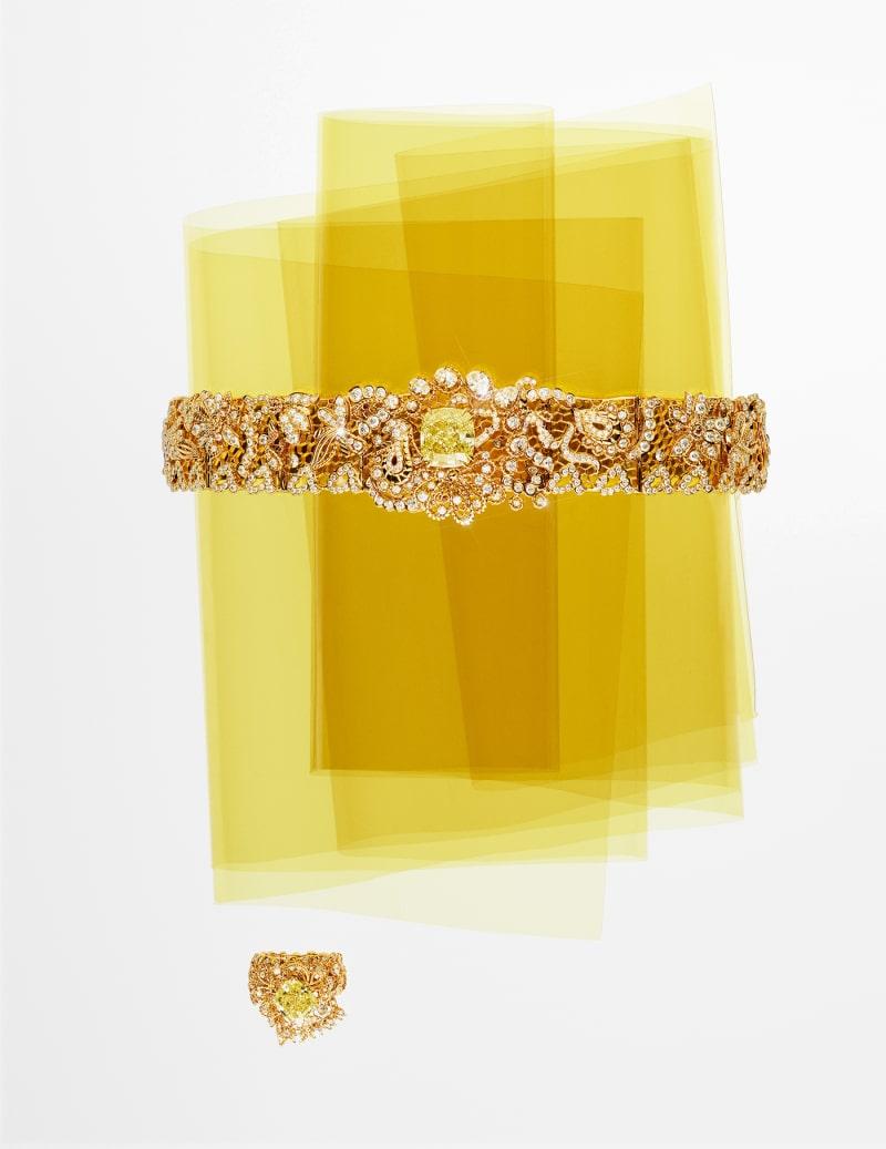 "Dior, ""Dentelle Guipure Yellow Diamond"""