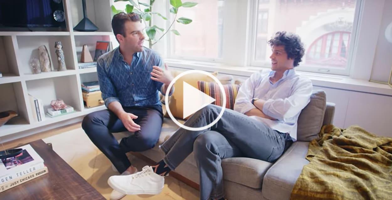 Zachary Quinto, Homestory, Video, Open Door, New York