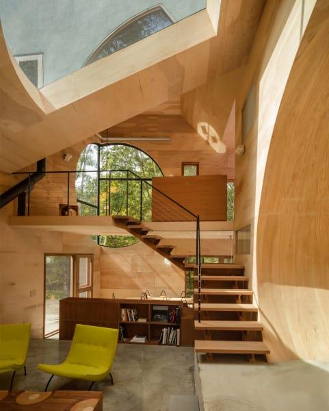 """Das haus ist die Verkörperung des Manifestes von dem Projekt """"Explorations of """"IN"""""""", das ab Juni 2014 vom Steven Holl Architekturbüwo entwickelt wird."""