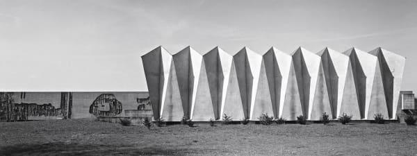 Brutal: Günter Bocks Trauerhalle Westhausen in Frankfurt.