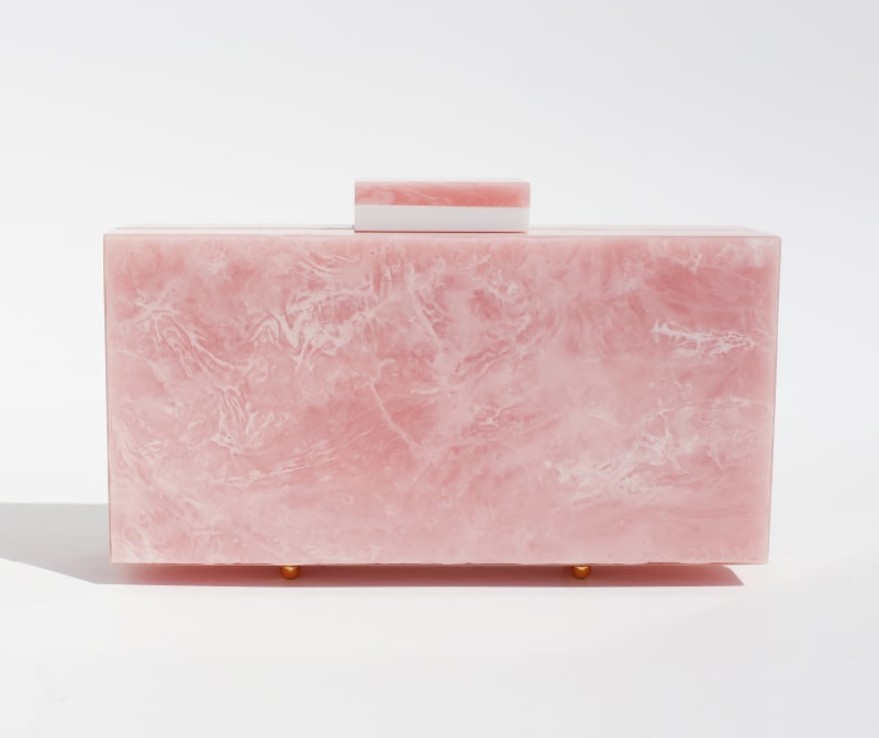 """4. """"Pink Quartz Marble Clutch"""" von L´Afshar"""