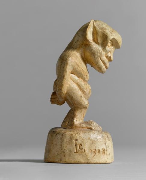 """Das knitze """"Monstre"""" von 1908  ist  gerade mal 14Zentimeter hoch. In Klammern trägt  es den Titel """"Autoportrait""""."""
