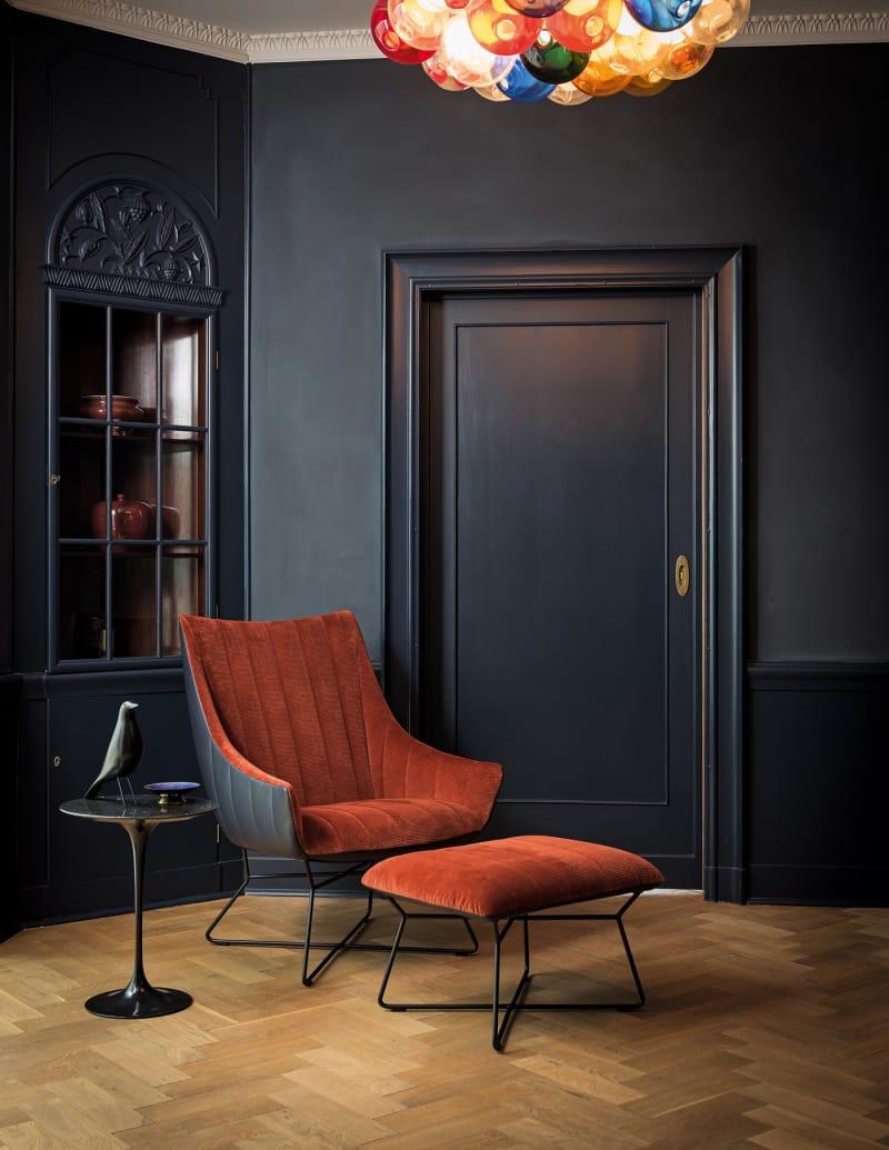 Drapierter Sessel