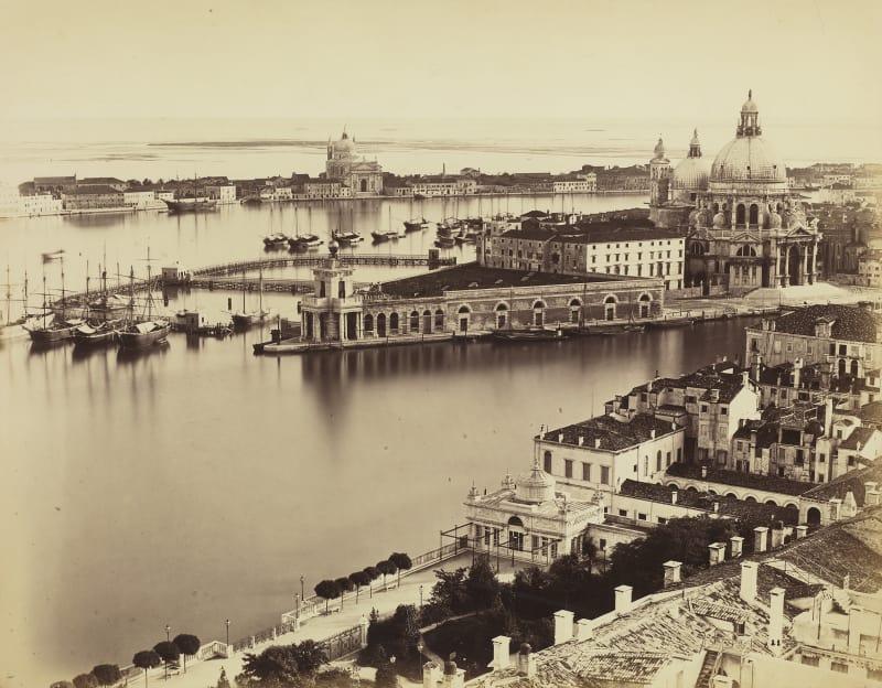 Carlo Naya (1816-1882), Ausblick auf das Bacino di San Marco mit der Kirche Santa Maria della Salute