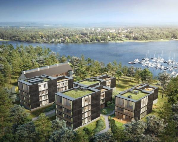 """Die """"Marina Apartments"""" werden am Westufer des Scharmützelsees errichtet."""