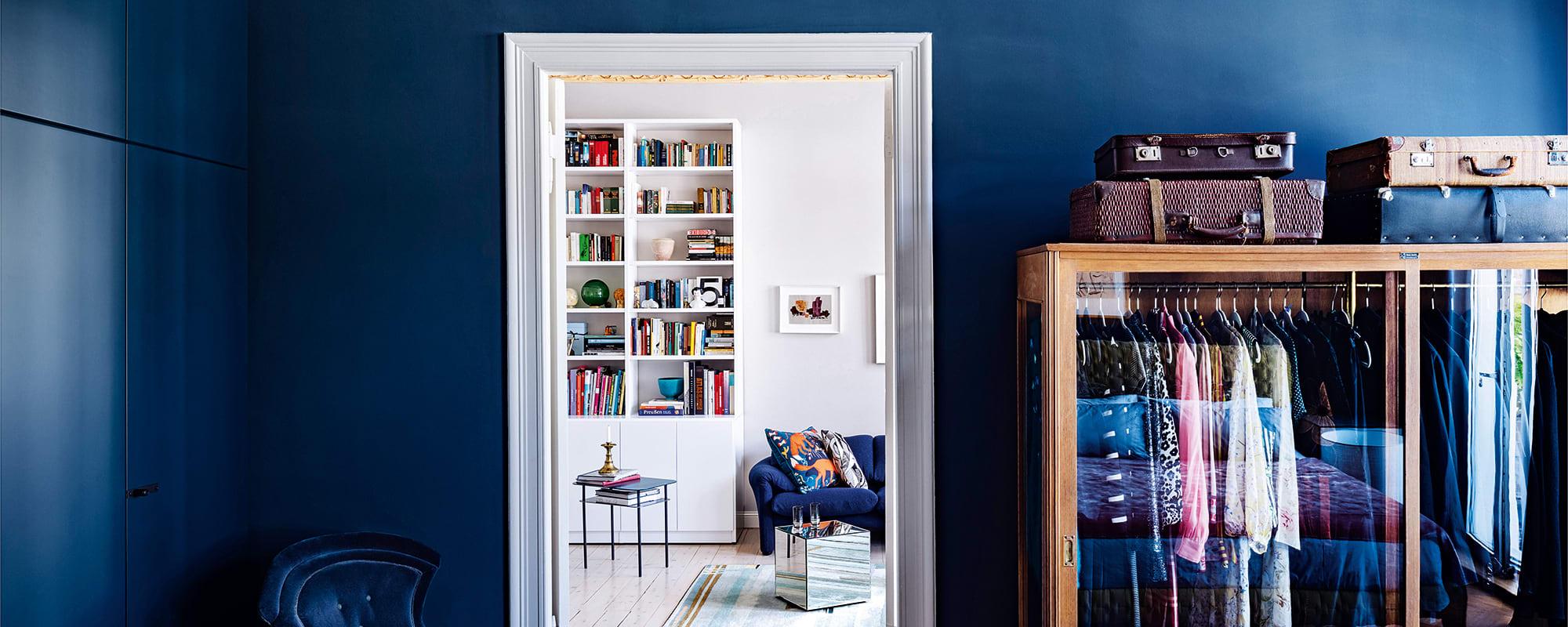 Pelzschrank, Schlafzimmer, Ikea, Hague Blue, Farrow & Ball