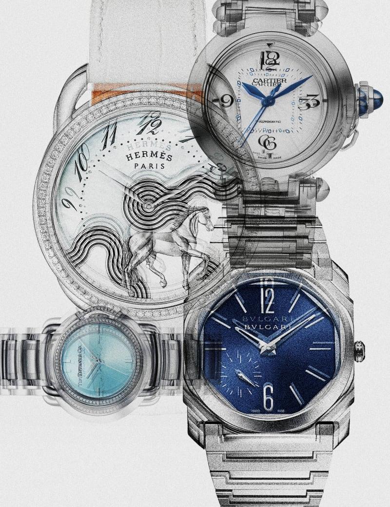 Eisblau: Uhr von Hermès