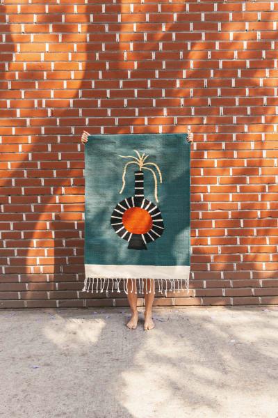"""Die Webarbeit heißt """"Teppich Gefäß"""", auf Zapotekisch: Lady Maset."""