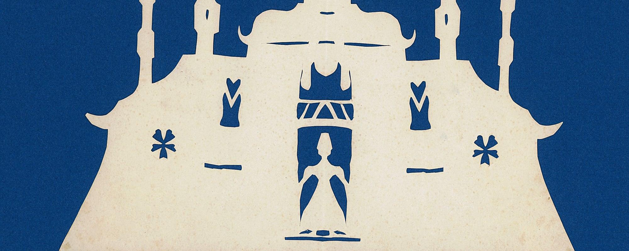 Hans Christian Andersen, Zeichnungen, Scherenschnitte, Orientalisches Gebäude