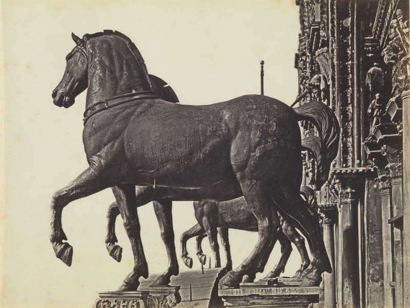 Domenico Bresolin (1813-1900), Die vier Rosse von San Marco, um 1851/55