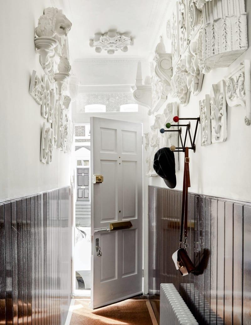 Eingang von Bridie Halls Haus in London