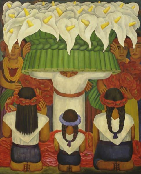 """Diego Rivera: """"Flower Festival: Feast of Santa Anita"""" (1931)"""
