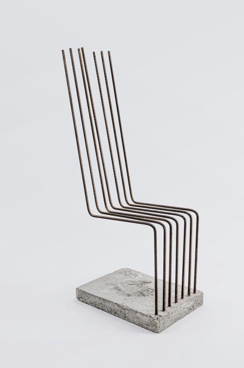 Heinz H. Landes Freischwinger, Solid, 1986 Beton, Armierungseisen