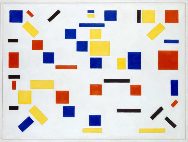 """1. """"Komposition No.8"""" von Bart van der Leck"""