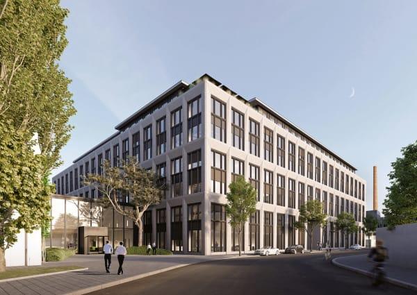 Die Architekten betonen, dass die dreidimensional gefalteten Fassadenelemente eine Interpretation der industriellen Prägung des Quartiers seien.