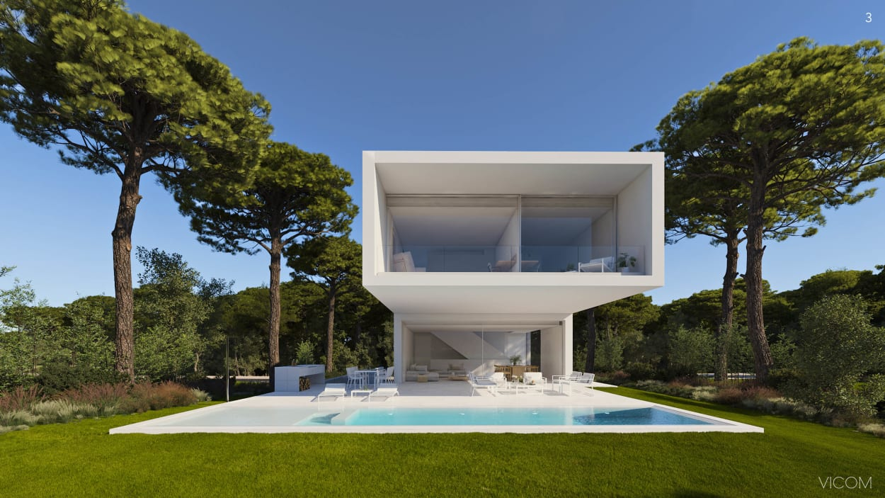 PGA Catalunya Resort, weiße Villa mit Pool
