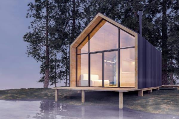 """Tiny House am See: """"Und am Ende des Straße steht ein Häuschen am See..."""" – als sei es die Vorlage für den Peter-Fox-Song!"""