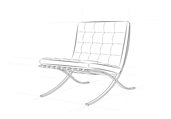 Ludwig Mies van der Rohes Barcelona Chair.