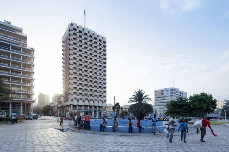 Hotel Independence, Dakar (Senegal), von Henri Chomette und Roland Depret, 1973-1978.