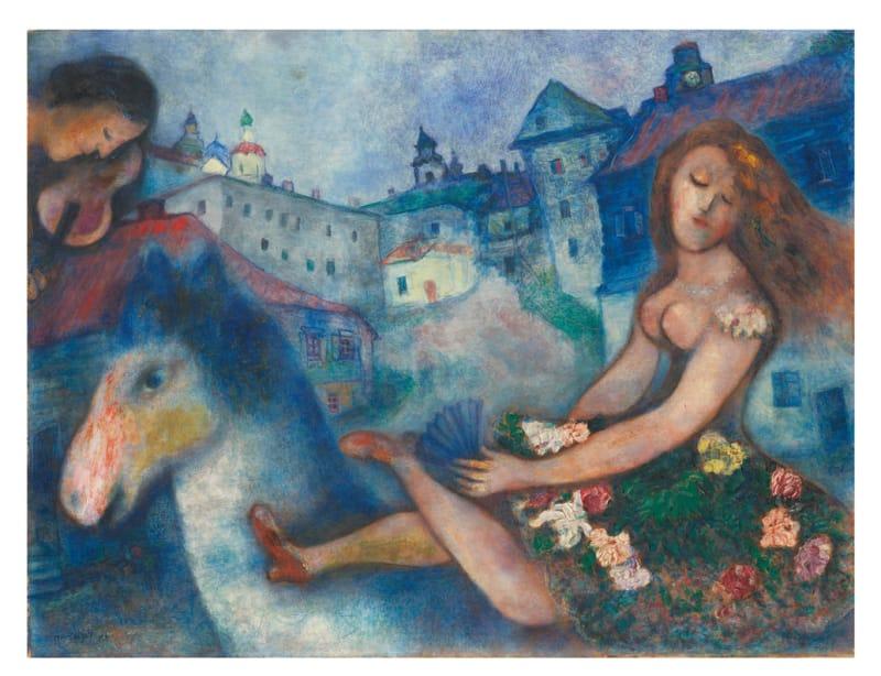 Lot-107-Marc-Chagall,-Jeune-fille-au-cheval,-1927-1929-----(estimate-2.2-2