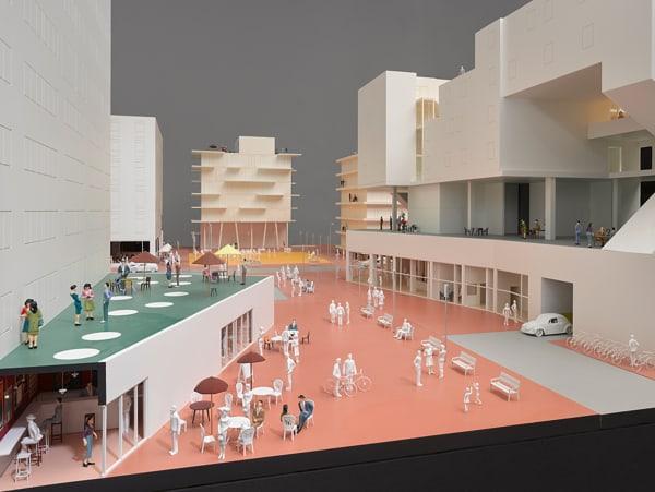 """Das Modell einer """"kollektiven Stadt""""."""