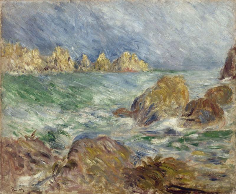 Auguste-Renoir_Meeresbild,-Guernesey,-um-1883