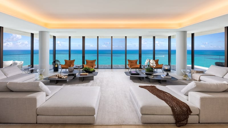 Miami Beach Penthouse Wohnzimmer