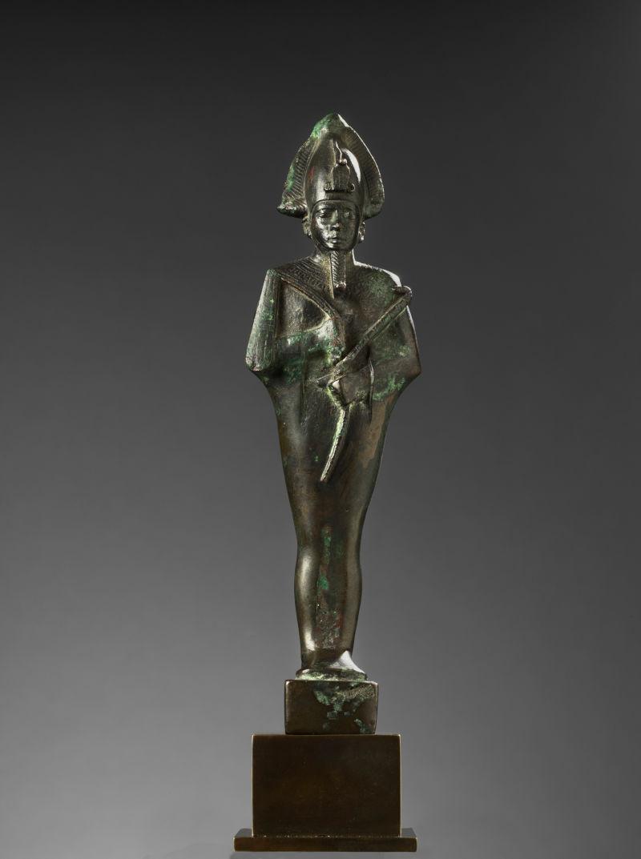 Statuette des Osiris, Jenseitsherrscher, Fruchtbarkeits- und Vegetationsgott 664–332 v. Chr., 26.–31. Dynastie