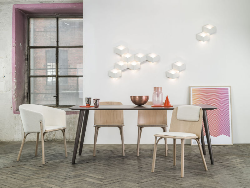 Split armchair & chair &  Kopie