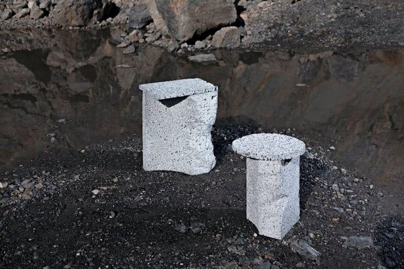"""3. Tischchen und Hocker """"Moon Rock"""""""