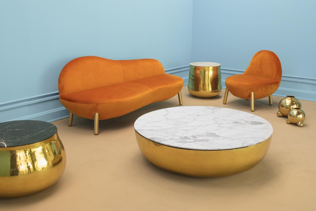 Scarlet Splendour, Terra Tisch, Marmor Tisch
