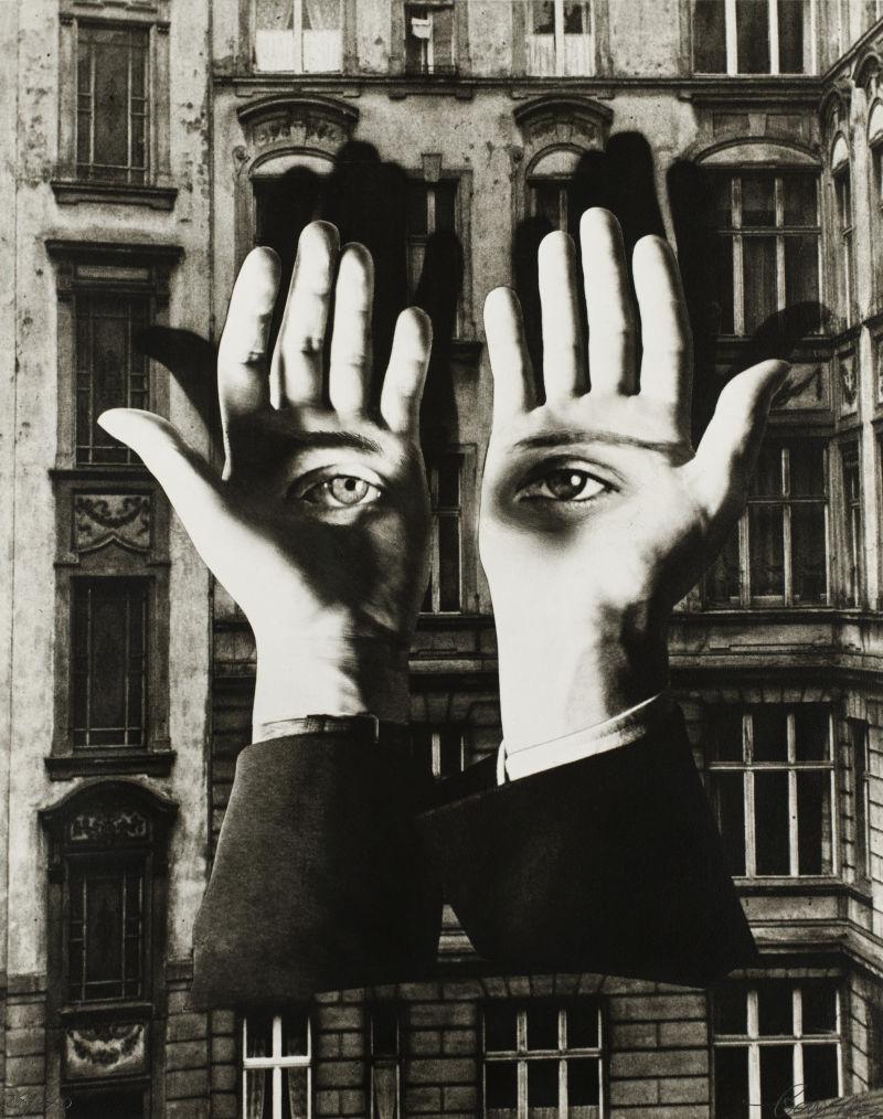 Herbert Bayer Einsamer Großstädter, 1932/1969, Fotomontage