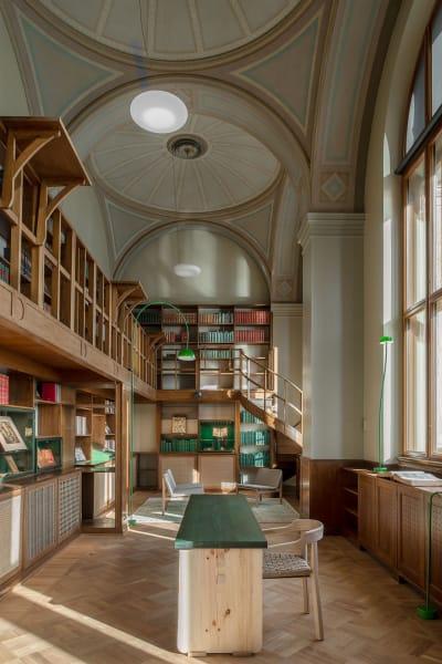 """Die renovierte Bibliothek des schwedischen Nationalmuseums soll ein Ort        """"der Ruhe und Reflektion"""" sein."""