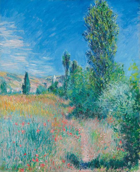"""Claude Monet, """"Landschaft auf der Insel Saint-Martin"""", 1881, Öl auf Leinwand, 73 x 59,7 cm."""