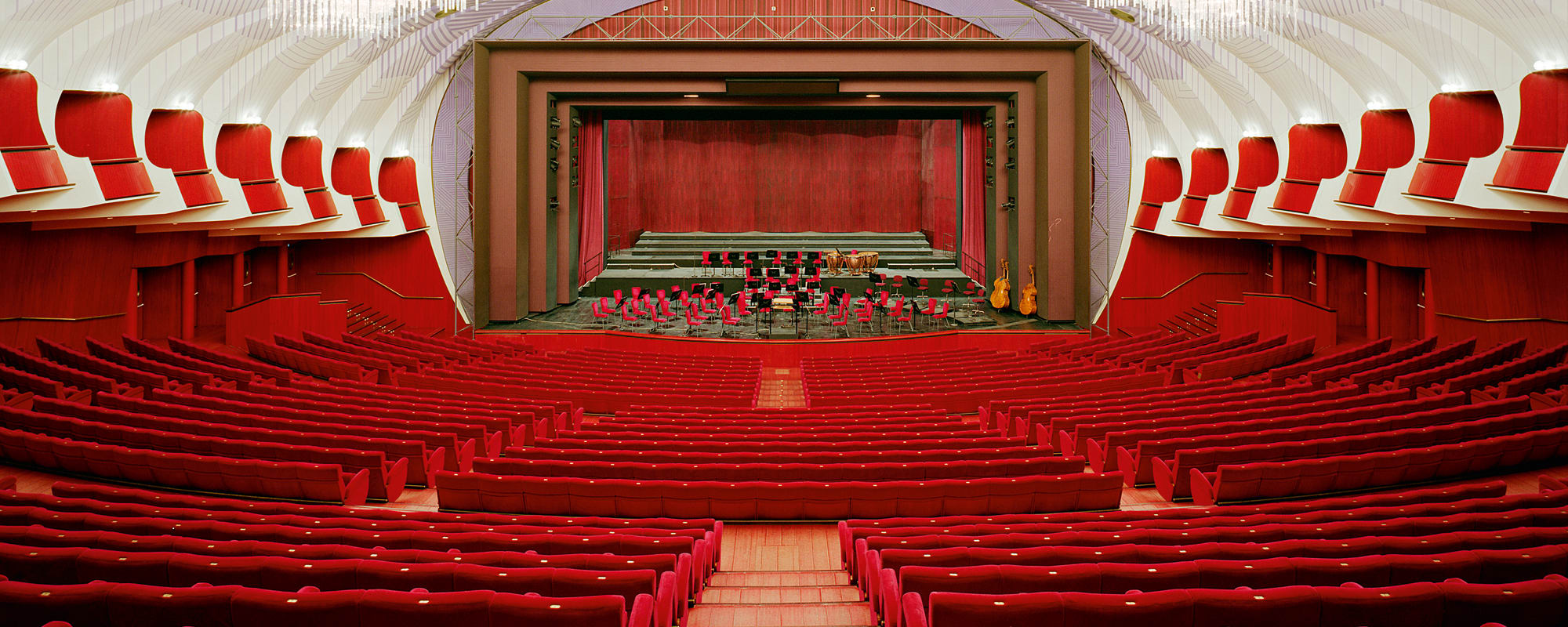 Teatro Regio, Carlo Mollino, Turin, Samt, Konzertsaal