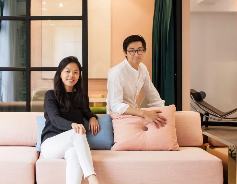 Vincent Lim und Elaine Lu.