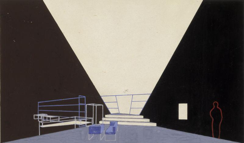 László Moholy-Nagy Bühnenbildentwurf 1928, Bauhaus Archiv