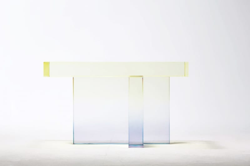 """Crystal Series, skye blue to yellow"", Saerom Yoon."