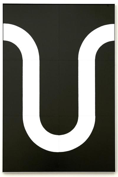 """Tobias Hoffknecht: """"Placca 11"""" (2020), Siebdruck und Aluminium; Galerie Crone."""