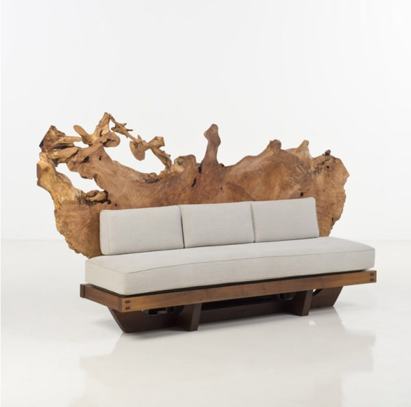 Lot 48: Studio George Nakashima: Sofa Tsuitate, 2013.