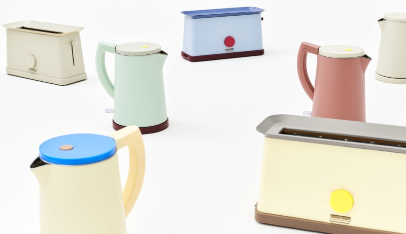 """Toaster und Wasserkocher """"Sowden"""" von Hay"""