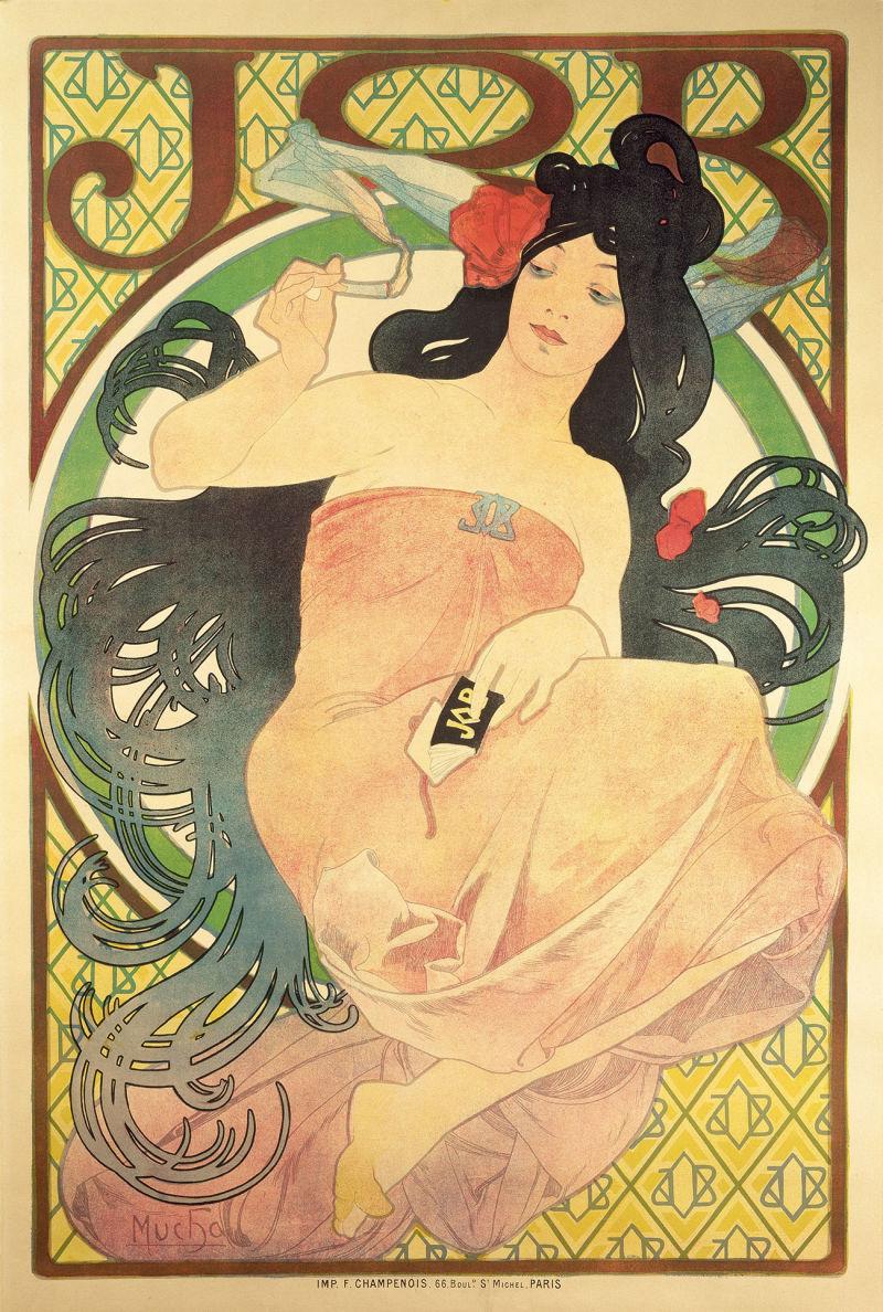 Alfons-Mucha,-JOB,-1898