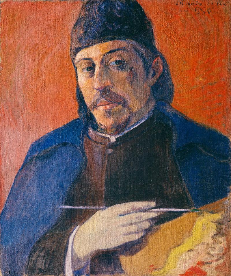 gauguin_self_portrait_mit_palette_lac_360x300mm