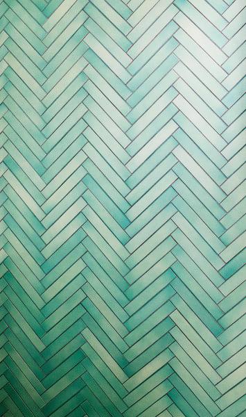 """Glasierte Lavasteinfliesen """"Cristalli 19"""" von Made a Mano, ab 275 Euro/m2"""