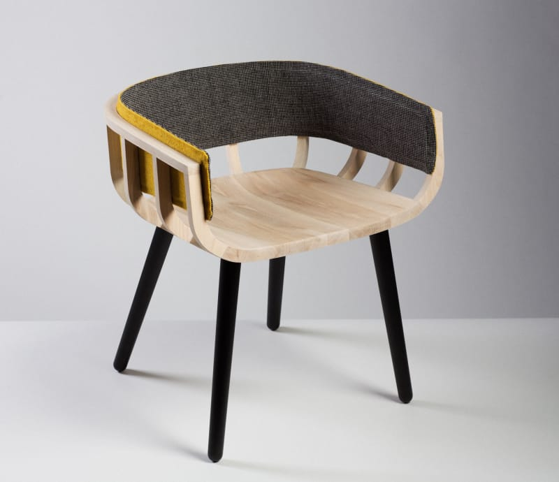 Liminal_Irish design at the threshold_ID2015_Notion and Mourne Textiles_Frame chair_front view_PR