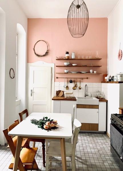 Lachs! SoLebIch Mitglied Eva hat in ihrer Küche ein Wand gestrichen.