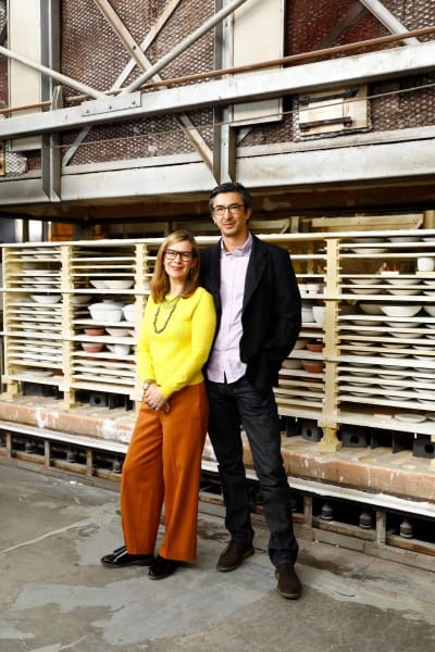 Catherine Bailey und Robin Petravic, Leiter von Heath Ceramics