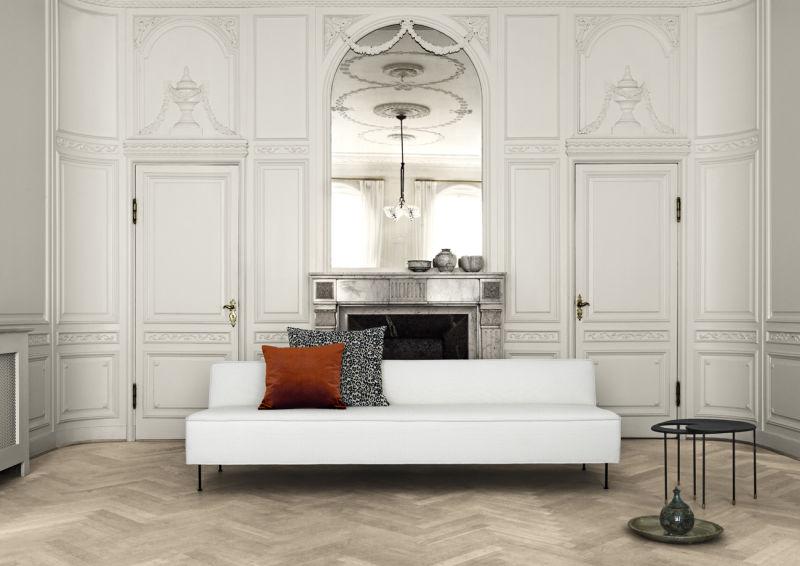 Modern_line_sofa_white_Kangourou_table_black