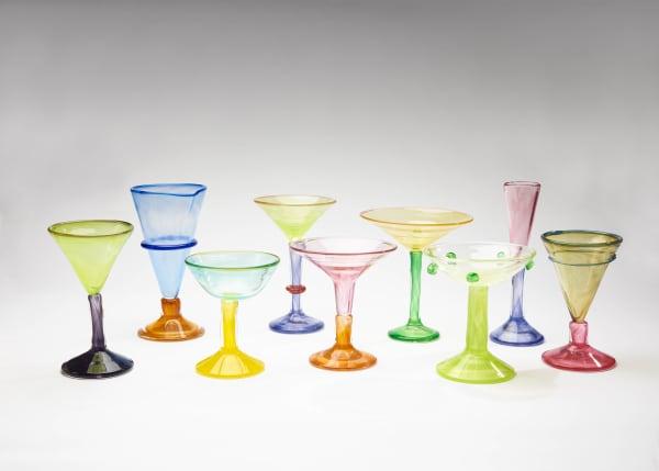 Die Gläser werden von Hand in der Manufaktur des Van Tatternde Glass Studios angefertigt.
